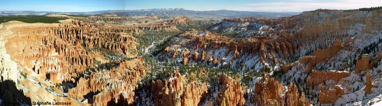 Mosaïque d'images montrant l'ensemble d'un des cirques (bassin de réception) de Bryce Canyon