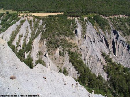 Forme d'érosion générale de la «salle de bal», Théus, Hautes Alpes