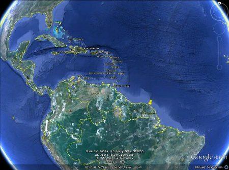 Localisation du secteur (punaise jaune) où ont été prises toutes les photos de cet article