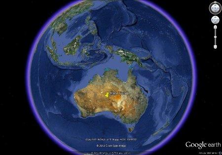 Localisation des Taka Tjuta dans l'outback australien