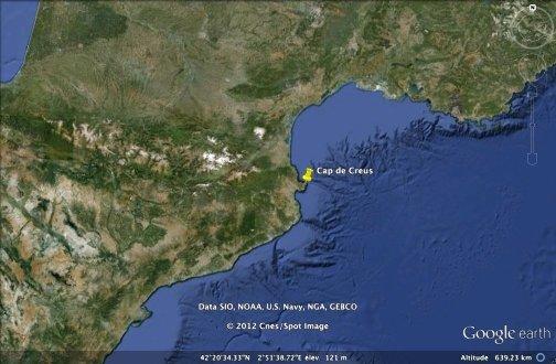 Localisation du Cap de Creus (Espagne)