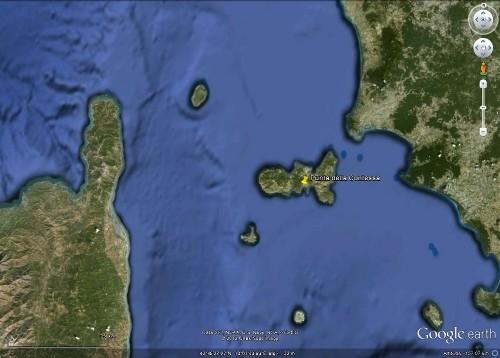 L'île d'Elbe, entre le Cap Corse et la côte toscane