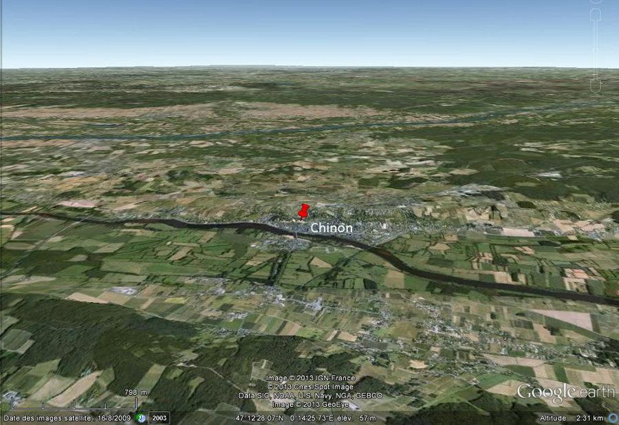 Vue de la région de Chinon (Indre et Loire)