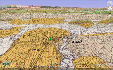 Carte géologique de la région d'Uzès (Gard)