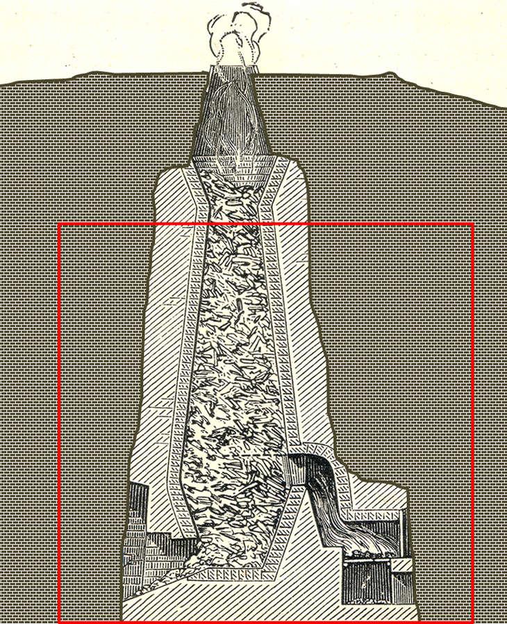 Montage reconstituant la géométrie des fours à chaux d'Aubière