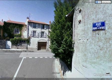 """Le début (Ouest) de la """"rue des Fours à Chaux"""" de Romagnat"""