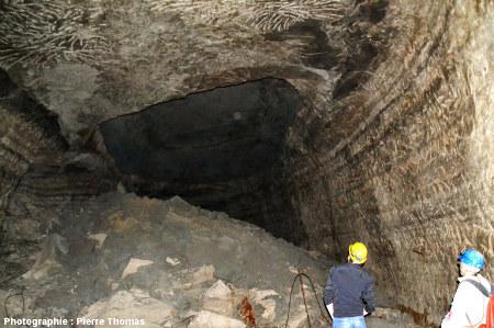 Éboulement du plafond d'une des galeries des carrières souterraines de Romagnat, Puy de Dôme
