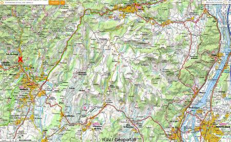 Localisation de Vals les Bains en Ardèche
