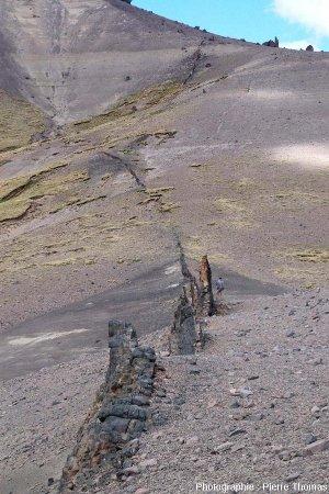 Vue sur un partie du dyke basaltique n°2, Patagonie argentine
