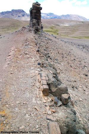 Contexte géologique dans lequel ont été ramassés les fragments d'écailles et d'os de glyptodontidés