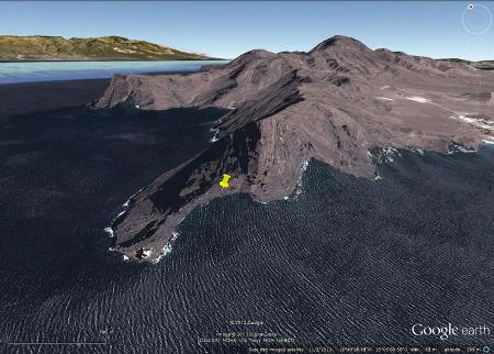 Vue sur le cap le plus occidental de l'île de Sao Vincente, Cap Vert