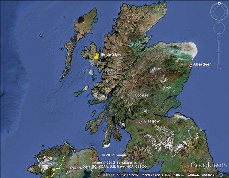 Localisation de l'île de Skye, en Écosse