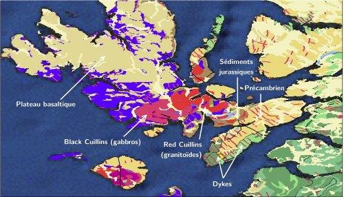 Formations géologiques de l'île de Skye