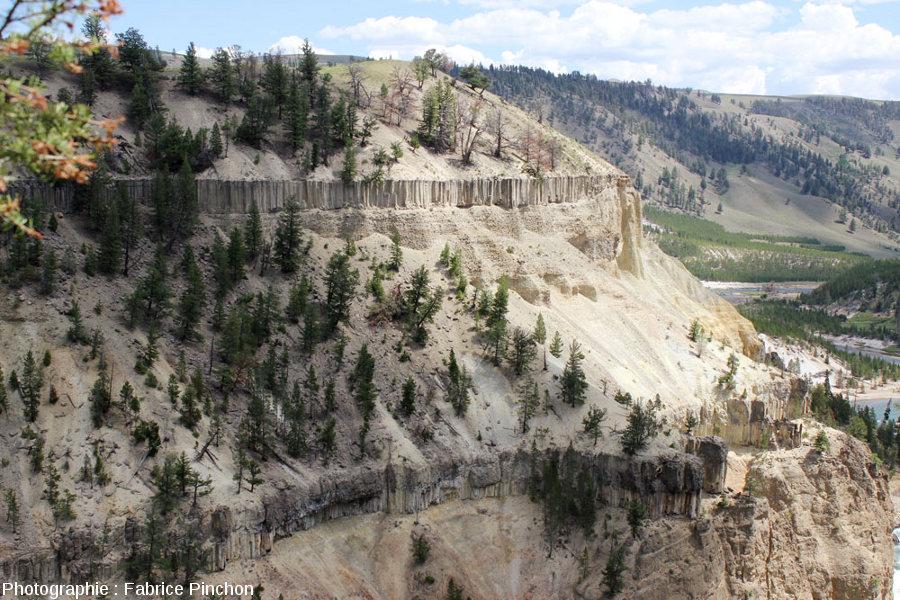 La vallée de la la Yellowstone River, Parc National de Yellowstone, au niveau du sill des images précédentes
