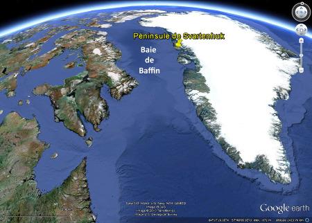 """Cadre géodynamique de la Péninsule de Svartenhuk, en bordure de la Baie de Baffin, quasi-océan """"avorté"""" s'ouvrant au début du Cénozoïque"""