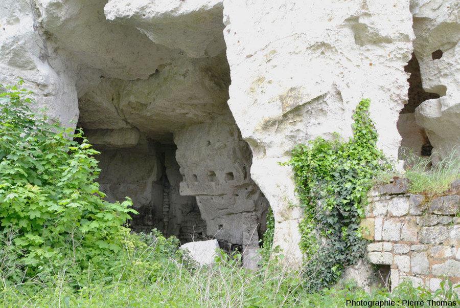 Ancienne cavité troglodytique laissée complètement à l'abandon sur la rive gauche de la Loire entre Montsoreau et Saumur (Maine et Loire)
