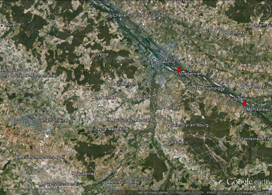 Le val de Loire, en amont de Saumur