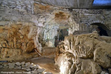 Vue d'une partie de la «Cave aux Sculptures», Dénézé-sous-Doué, Maine et Loire