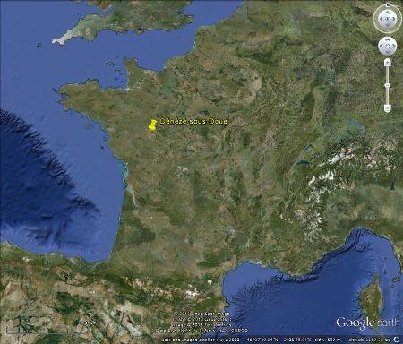 Localisation de Dénézé-sous-Doué, en France