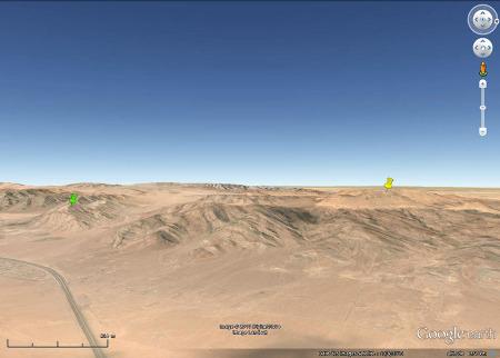 Vue oblique du secteur d'Al Quwayra (Jordanie)
