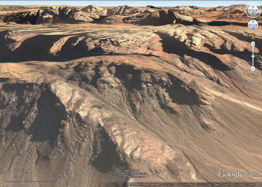 Localisation de la falaise de grès, désert de Wadi Rum, Jordanie