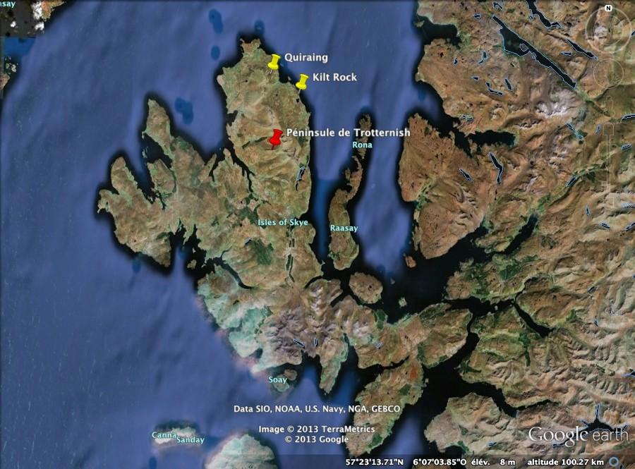 Localisation de l'île de Skye, Écosse
