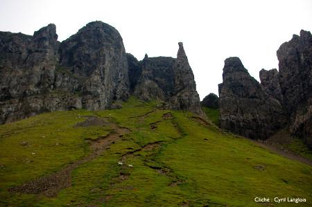 Bordure de bloc détaché du plateau basaltique de Trotternish