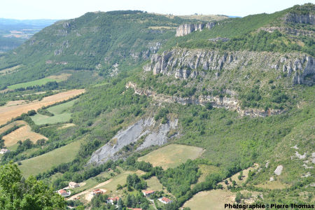 Détail de la colonne stratigraphique de la région de Roquefort, Aveyron