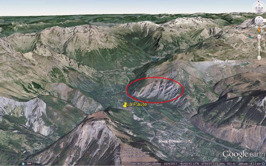 Vue de la région de Bourg d'Oisans – La Paute (Isère)