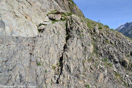 Alternances marno-calcaires liasiques au voisinage immédiat de la faille du col d'Ornon