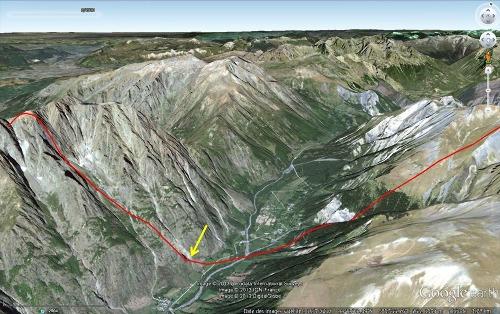 Vue Google Earth de la vallée de la Malsanne