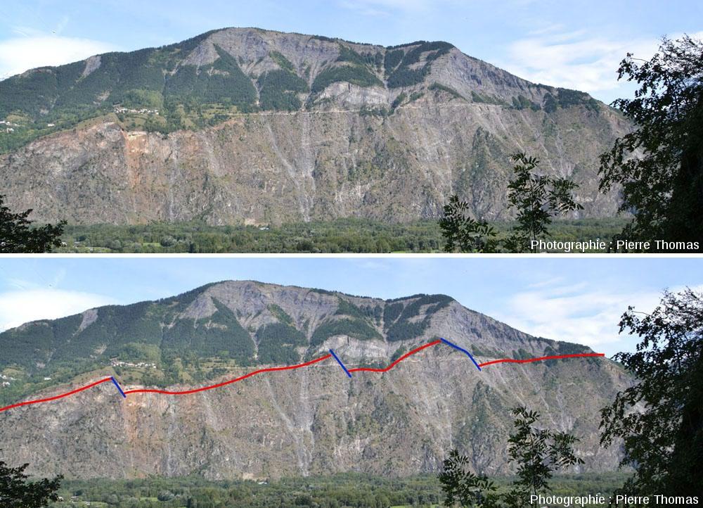 Vue globale brute et interprétée des rochers d'Armentier