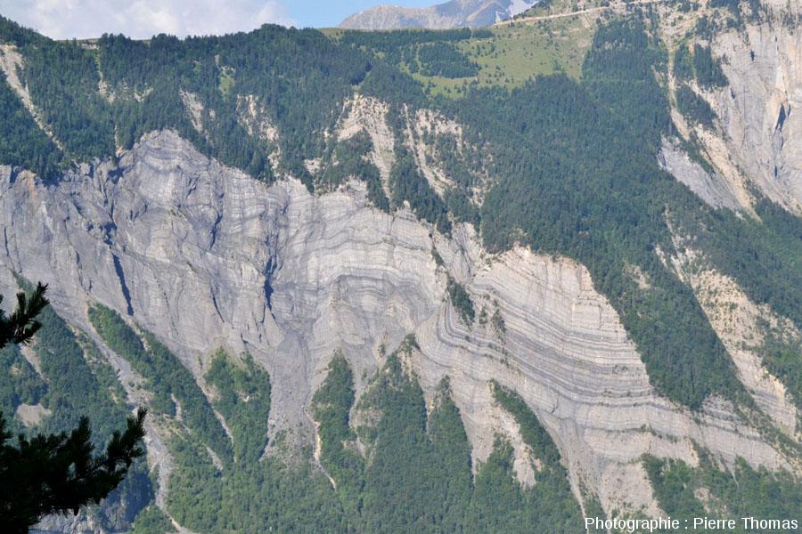 Le pli-faille des falaises de la Roche du Pontet, Bourg-d'Oisans