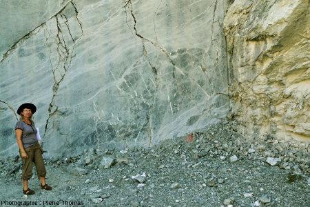 Vue d'ensemble d'un autre secteur de la carrière de serpentinite de Chatillon (Val d'Aoste, Italie)