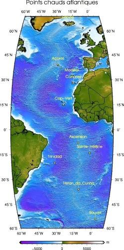 Les principaux points chauds de l'Atlantique