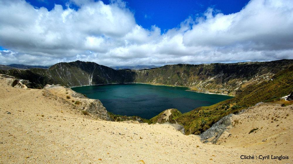 Le lac de caldeira du Quilotoa, Équateur