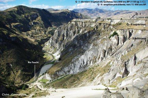 Vue interprétée d'une portion étroite de la vallée du Rio Toachi