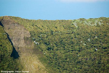 Vue sur le rempart Nord de la caldeira de Faial (Açores)