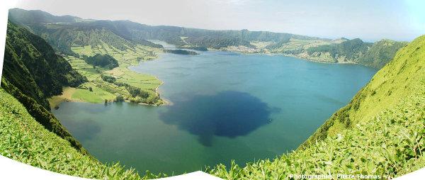 La caldeira des Sept Cités et le Lagoa Azul, Açores (Portugal)