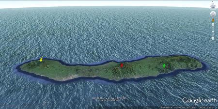 Vue aérienne de l'île de Sao Miguel aux Açores (Portugal)