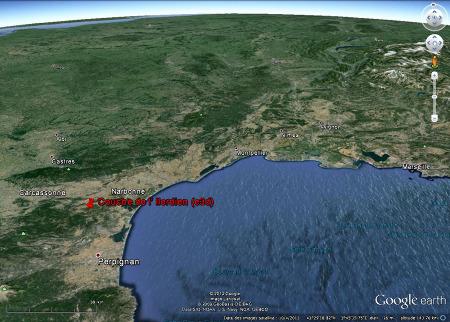 Localisation de Coustouge et de ses couches d'Ilerdien fossilifère