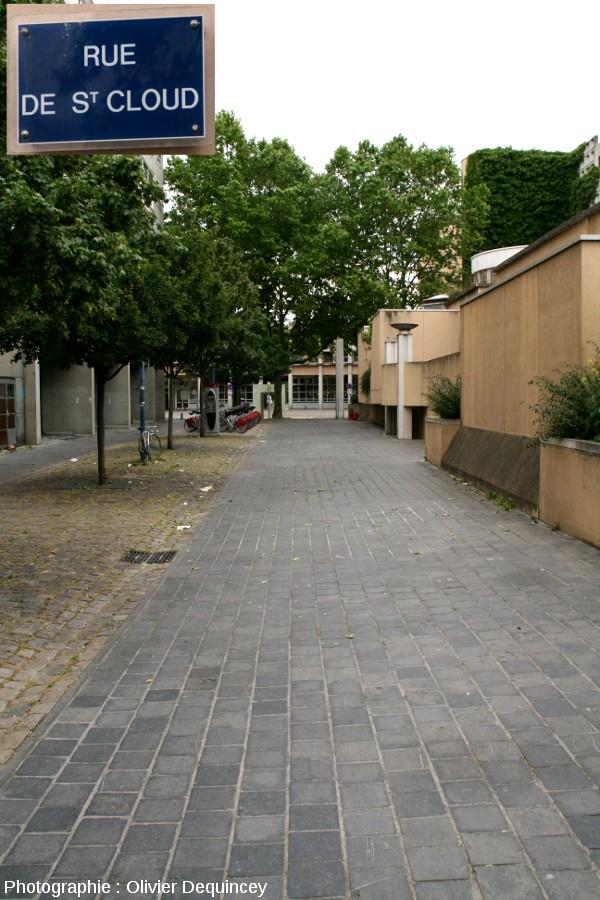 Pavage de pierre bleue dans la rue de Saint Cloud, Lyon (7ème)