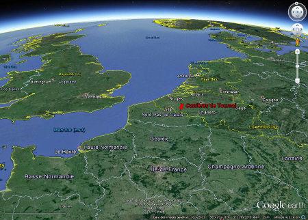 Vue aérienne de la région de Tournai (Belgique)