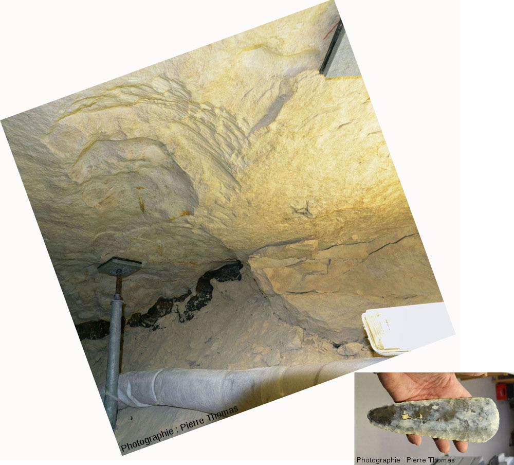 Intérieur d'une galerie néolithique creusée dans la craie campanienne de Spiennes (6km au Sud de Mons, Belgique)