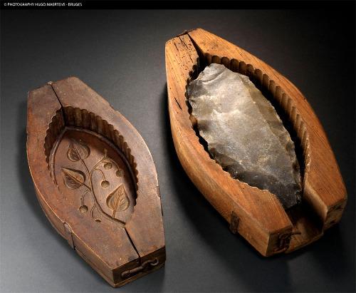 Deux moules à livre de beurre, utilisés jusqu'au début du XXème siècle pour mouler 500g de beurre