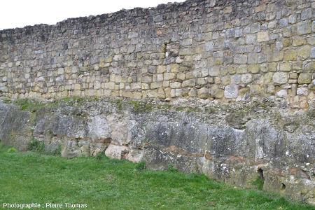 Paroi des anciennes douves du château du Grand Pressigny