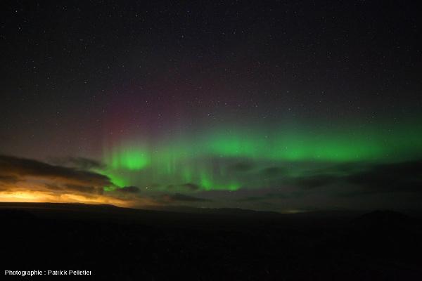 Une aurore polaire près de Reykjavik (Islande), 5 septembre 2013