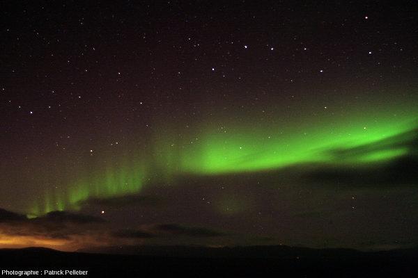 Aurore polaire près de Reykjavik (Islande), 5 septembre 2013, autre vue