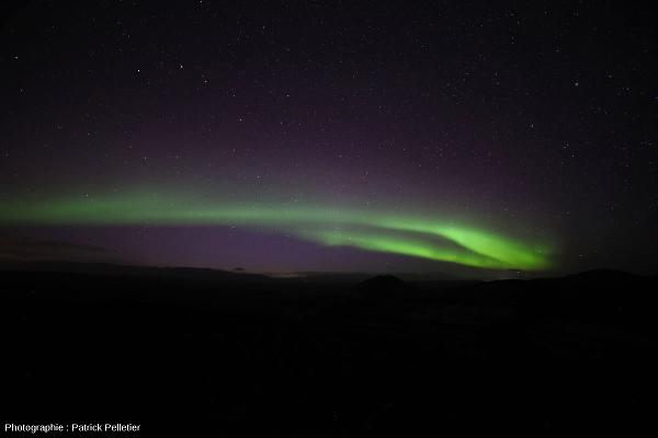 Une autre aurore polaire photographiée ce même 5 septembre 2013 dans la région de Reykjavik