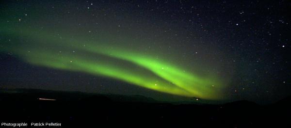 Autre aurore polaire photographiée ce même 5 septembre 2013 dans la région de Reykjavik, autre vue